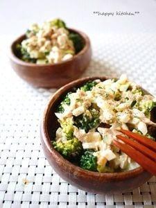 ブロッコリーのツナと粒マスタードのタルタルサラダ