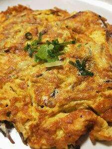 出汁カスのイリコを使った卵焼き