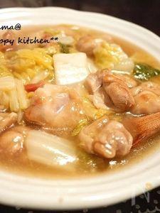 ツルンと美味しい♪鶏肉と白菜の梅肉あんかけ