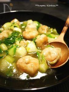 ご飯に合う♪海老と青梗菜の塩風味あんかけ