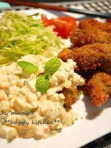 ぷりっぷりな牡蠣フライ@自家製タルタルソース