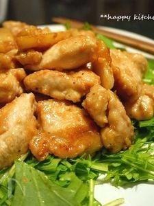鶏むね肉とじゃが芋のガーリック味噌マヨ炒め