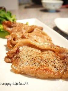 ご飯がすすむシンプル味♪塩風味の豚生姜焼き