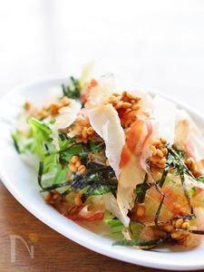 醤油麦麹の和風サラダ★パルミジャーノチーズかけ