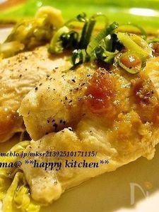 ルクエで美味しい♪鶏むね肉と梅肉の重ね蒸し