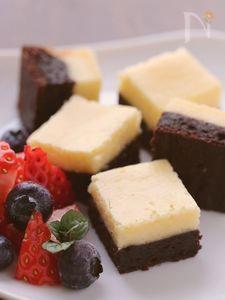 しっとり濃厚★チーズケーキブラウニー