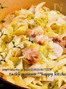 スープも美味しい♪チキンとキャベツの重ね蒸し