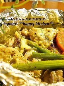 野菜たっぷり♪ホイル包み焼きマヨチーズチキン