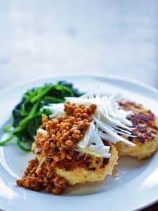 鶏挽肉の和風ハンバーグ☆食べる調味料<醤油麦麹>かけ