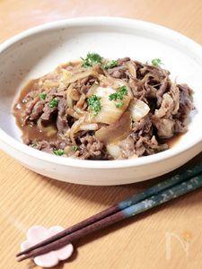 牛肉と白菜の炒めもの