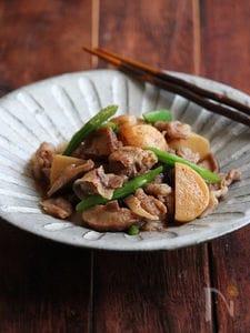 豚と里芋の簡単煮物。