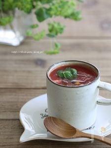 レンジで3分トマトスープ