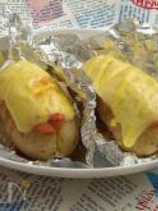 じゃがいも丸ごと♪明太チーズのベイクドポテト