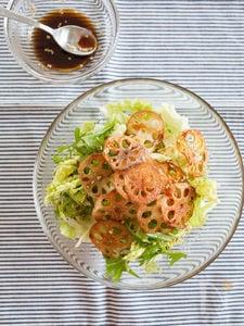 カリカリれんこんと白菜のサラダ 中華ドレッシング