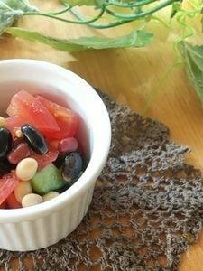 【常備菜】夏野菜と蒸し大豆のサラダ