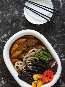 作り置き常備菜★サッと揚げ野菜手作りサッパリつゆ漬け
