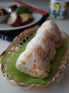 人参と生姜の炊き込みご飯