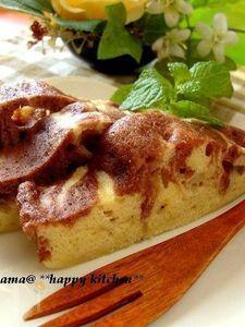 ルクエで☆チョコバナナのヨーグルトマーブルケーキ