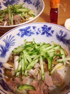 酸っぱ辛いザーサイ豚丼