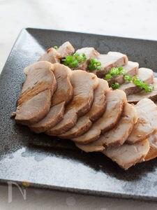 豚もも肉で、あっさり煮豚