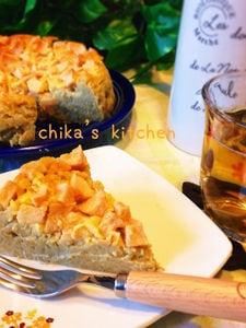 トロトロ〜リ♡ゴロゴロりんごのさつまいもカスタードケーキ♡