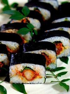 押し型で作るフライ寿司