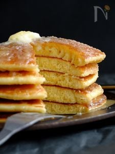 HMで作る美味しいホットケーキの配合と焼き方。
