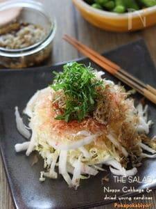 ちりめんじゃこと白菜の簡単和風サラダ