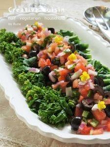 チョップ野菜ドレで菜の花サラダ