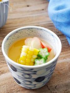 豆乳と夏野菜の冷やしあんかけ