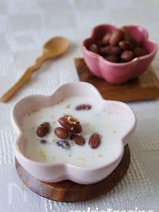 金時豆のミルク胡麻ぜんざい