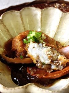 見立て料理 里芋団子のフカヒレ餡かけ風