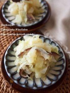 キャベツと椎茸の蒸し煮