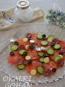トマトのシンプルdotサラダ