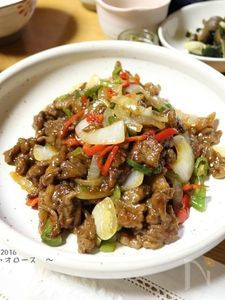 筍なしの青椒肉絲