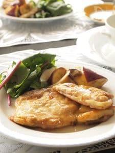 ノルマンディー風 りんごとカマンベールのポークソテー
