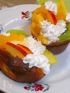 りんごジャム&アイスのポップオーバー♪