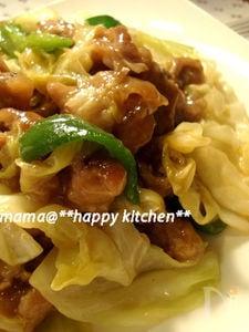 お肉ぷるぷる♪豚肉とキャベツの中華風オイスター炒め