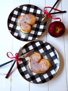 ハート形♥️パン粉フレンチトースト