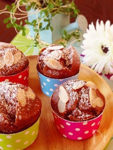 ノンオイルノンシュガー♪メレンゲなしでもふわチョコケーキ♡