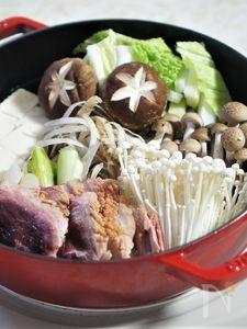 ストウブSukiyaki & グリルパンで鴨鍋
