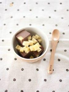 バナナ&ココアの豆乳かん