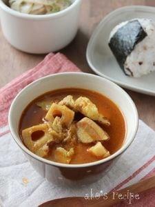 れんこんとポークのスープカレー