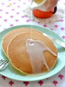 ホットハニーミルクソース・ホットケーキ
