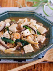 旨味ましまし♪『シーフードと豆腐のうま塩あんかけ』