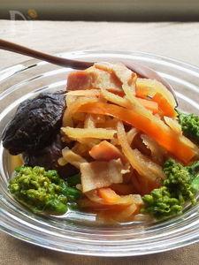 椎茸の出汁でうま!~ベーコンと干し大根のめんつゆ煮(常備菜)