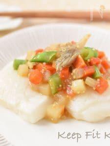 【鏡開き】焼餅の野菜たっぷり雑穀餡かけ