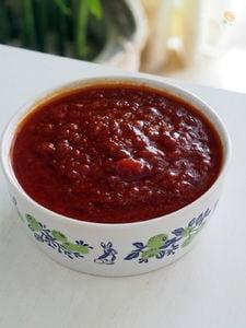 トマトにんにくラー油