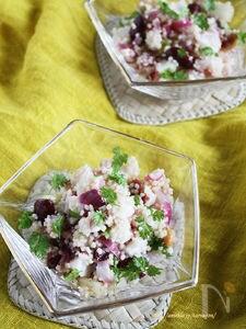 いろいろお豆とタコのクスクスサラダ