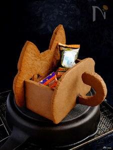 ハロウィン・ジャックオーニャンタン☆猫型クッキーのお菓子箱!